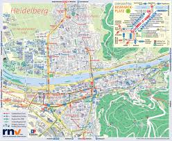 Germany Map Freiburg by Heidelberg Tourist Map