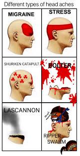 Meme Types - types of headaches meme tumblr