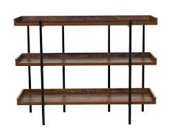 Etagere De Garage by Gracie Oaks Calona Modern Wood And Steel 3 Shelf 36