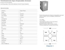 9t23b3871 transformer 15kva 480 delta west side electric