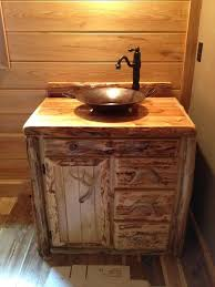 36 Inch Vanity Cabinet Custom Rustic Cedar Bathroom Vanity Made In Michigan Free