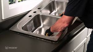 Drop In Kitchen Sinks How To Install A Stainless Steel Drop In Sink Moen Installation