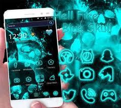 skull apk hell skull theme blue apk free personalization app