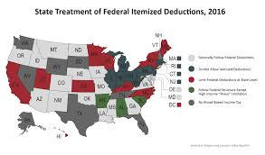 State Income Tax Map by State Treatment Of Itemized Deductions U2013 Itep