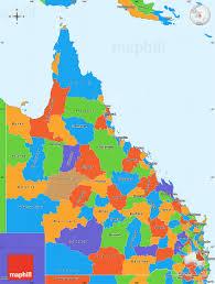map of queensland political simple map of queensland