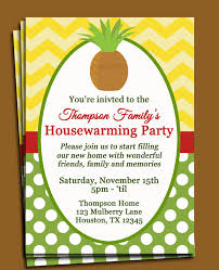 registry for housewarming party pineapple invitation printable or printed with free shipping new