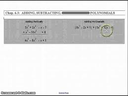adding and subtracting polynomials lessons tes teach