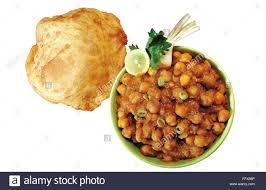 cuisine fond blanc repas végétarien cuisine punjab punjabi chole et bathura servi