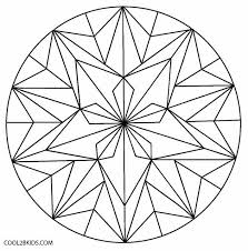 printable kaleidoscope coloring pages kids cool2bkids
