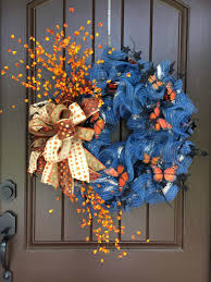 2017 autumn denim wreath with butterflies tutorial trendy tree