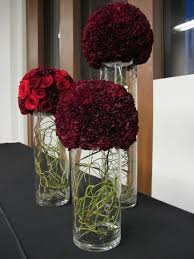 carnation and rose balls for a corporate holiday event modern