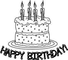 coloring birthday cards happy birthday cake for kid coloring page happy birthsday