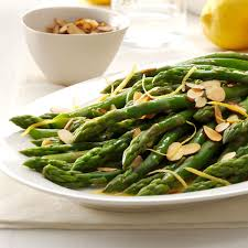 lemon almond asparagus recipe taste of home