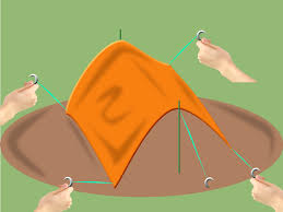 How To Build A Tent by How To Pitch A Basha Tarp Tent 6 Steps With Pictures