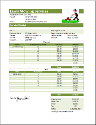 lawn mowing invoice template free   templates  landscaping  with  lawn mowing invoice template free by ms excel printable lawn mowing  receipt template receipt  from greenmonsterglasstk