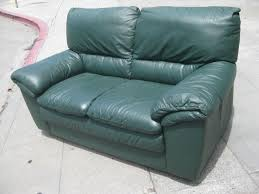 UHURU FURNITURE  COLLECTIBLES SOLD Leather Sofa Loveseat - Hunter green leather sofa