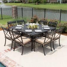 28 8 person patio table caluco maxime 8 person resin wicker