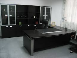 Office Desk Design Ideas Dark Modern Table And Cabinets In Modern Executive Office Desk