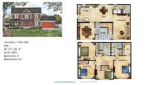 Continental Homes Floor Plans Modular Home Two Story 503 1 Jpg