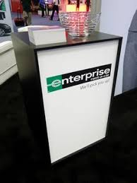 Portable Reception Desk Portable Reception Desk With Aluminum Profiles And Led Trade