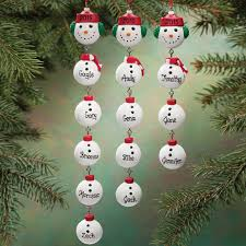 personalized snowman dangle ornament snowman and ornaments
