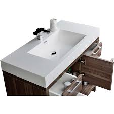 40 Bathroom Vanities 40 Modern Bathroom Vanity Set With Walnut Finish Tn L1000 Wn