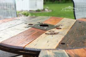 bliss ranch spool patio table