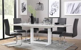 8 chair dining table tokyo white high gloss extending dining table and 8 chairs set