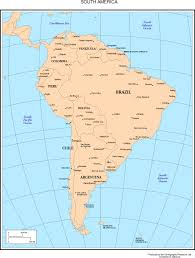 South Central America Map by South America Map Countries And Capitals Roundtripticket Me