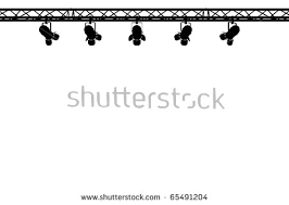 silhouette stage lighting on white background stock illustration