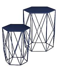 Navy Side Table Metal Side Tables Nests M S