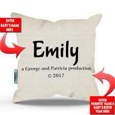 personalized pillows for baby personalized copyright baby name throw pillow cover 18 x 18