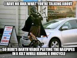 Unicycle Meme - darth wtf imgflip