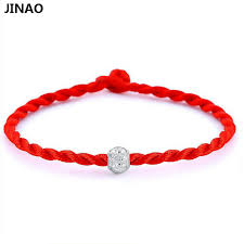 lucky red string bracelet images 2 pcs jinao leonardo dicaprio lucky red rope bracelets bangle wax jpg