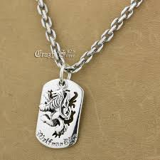 sterling silver tag necklace images 925 sterling silver king lion dog tag biker pendant 9s120a 925 jpg