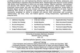 Substance Abuse Counselor Resume Example by Addiction Counselor Resume Template Reentrycorps