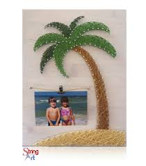 palm tree picture frame kit string art children play and palm