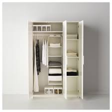 brimnes wardrobe with 3 doors white 117x190 cm ikea