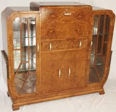 art deco burr walnut cocktail cabinet dining room pinterest