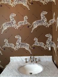 tnwallpaperhanger wallpaper hanging scalamandre zebra in powder room