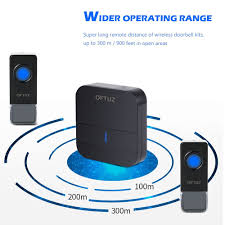oftuz wireless doorbell with 2 push buttons 1 plug in receiver