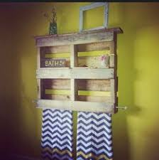 wooden pallet bathroom towel rack and shelf by primativedecor