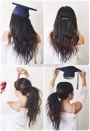 nursing graduation hairstyles with cap graduation hair hack graduation hair beauty department and hair style