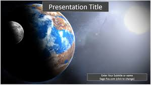 templates powerpoint earth free earth and moon powerpoint template 8266 sagefox powerpoint