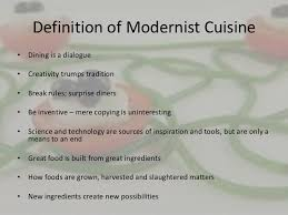 cuisiner definition molecular gastronomy introduction