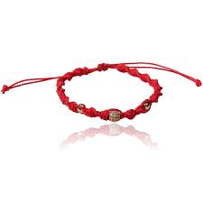 red friendship bracelet images Red wax string slipknot cord macrame friendship bracelet misanga jpg