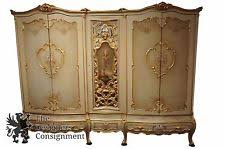 French Provincial Armoire Hand Painted Armoire Ebay
