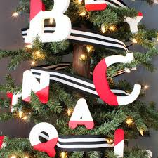 color dipped letter ornaments more diy ornaments