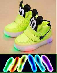 light up tennis shoes for choice of boys or girls light up shoes mickey mouse