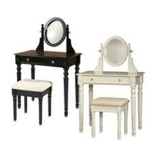 Youth Vanity Table Youth Vanity Bench And Mirror Set With Jewelry Storage White